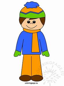Boy in winter clothes | Coloring Page