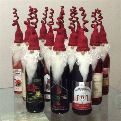 knit  felted wine bottle topperschristmas ornament