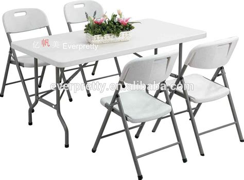white folding dining table and chairs outdoor furniture folding table and chair white plastic
