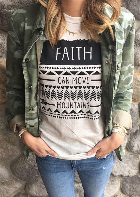 faith  move mountains  shirt  necklace