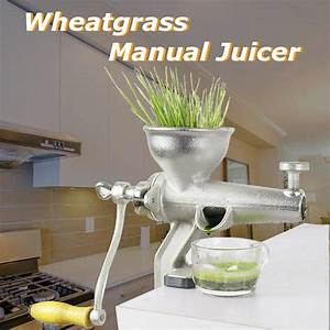 Metal Manual Juicer Fruit Vegetable Reamer Squeezer Wheat
