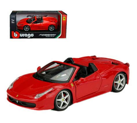 Fairfield collectibles possesses a significant selection for hundreds more die cast we ask you to take the time to search our copious variety of diecast collectibles by car make at fairfield. Ferrari 458 Spider Red 1/24 Diecast Model Car by Bburago for sale online | eBay