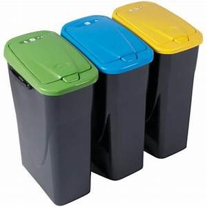 Poubelle De Tri Cuisine : poubelle tri s lectif bleue 25 l poubelle entretien ~ Dailycaller-alerts.com Idées de Décoration