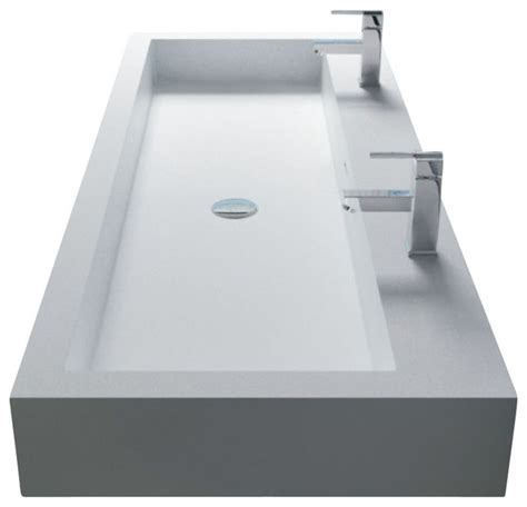 white wall hung solid surface resin sink glossy modern bathroom sinks by adm