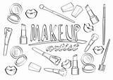 Coloring Makeup Artist Cosmetics Brushes макияжа художника страница σελίδα τη καλλιτεχνών με Whitesbelfast τις αγαπώ τίτλος sketch template