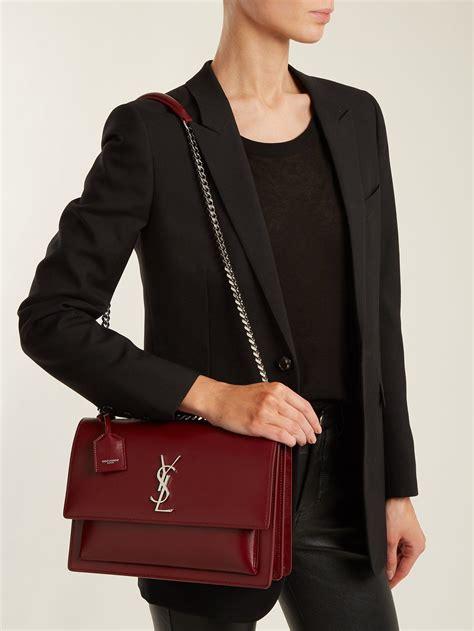 sunset large leather shoulder bag saint laurent matchesfashion au shoulder bag bags ysl