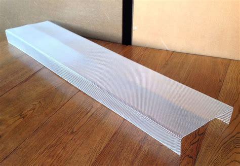 fluorescent light covers wrap around fluorescent plastic diffuser lens for wrap around light