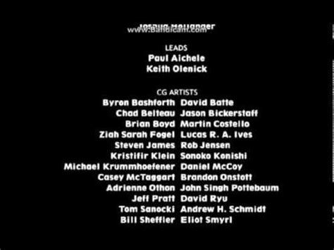 finding nemo end credits youtube