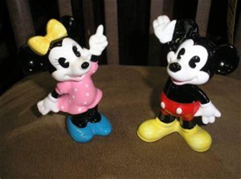 Vintage Disney Mickey & Minnie Mouse Ceramic Figurines