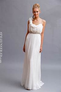 are you a grecian goddess at heart we think this dress With roman wedding dress