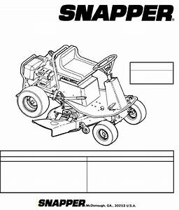 Snapper Lawn Mower 381450hbve User Guide