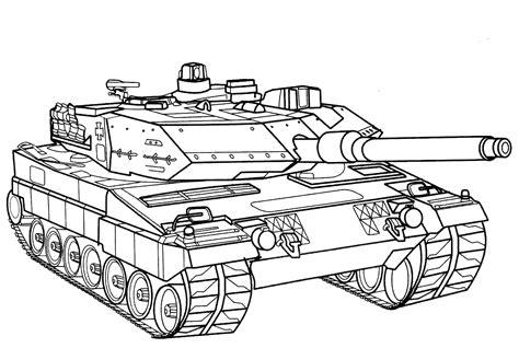 disegni da colorare battle tank germania
