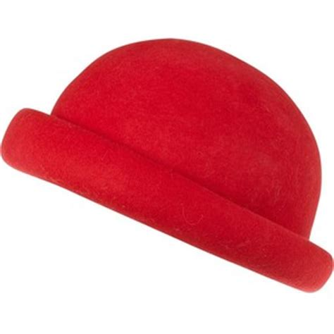 red bowler hats tag hats