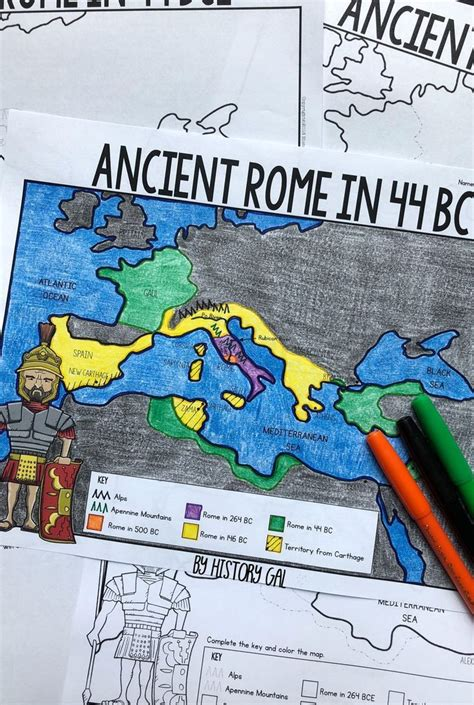 ancient rome   bce map activity map activities