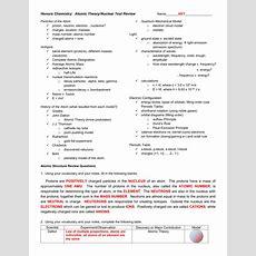 Worksheet Chemistry Atomic Structure Worksheet Answers Grass Fedjp Worksheet Study Site
