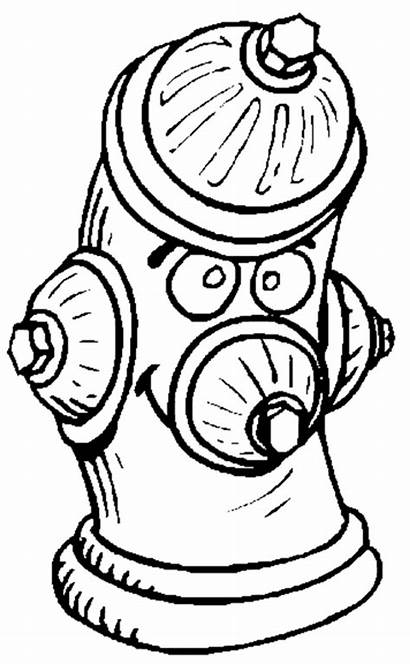 Coloring Pages Fire Hydrant Printable Truck Department