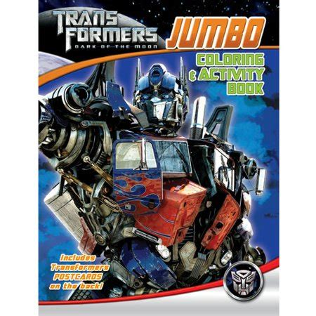 transformers coloring book transformers jumbo coloring and activity book walmart