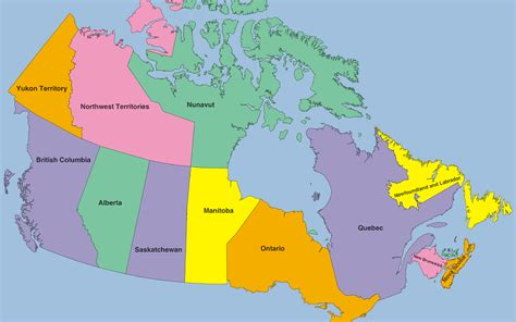 canada map maps