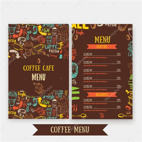 Vector set of modern posters with coffee backgrounds. Cafe menu template design with lettering for coffee shop. Hand drawn cafe menu design. Modern ...
