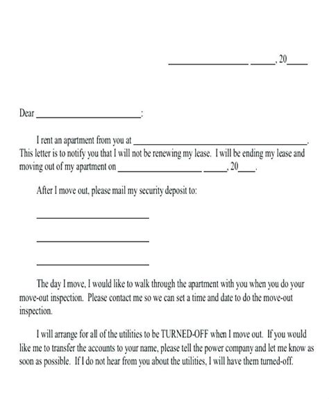 day move  letter template moving home  notice