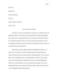 Dracula Literary Analysis On