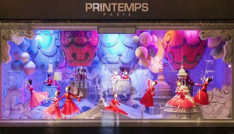 haute couture holiday displays printemps christmas windows