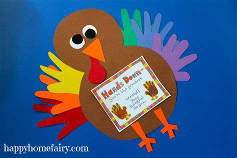 thankful handprint turkey craft  printable happy