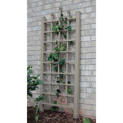 Shop Garden Trellis by Shop Dura Trel 28 In W X 64 In H Brown Traditional Garden