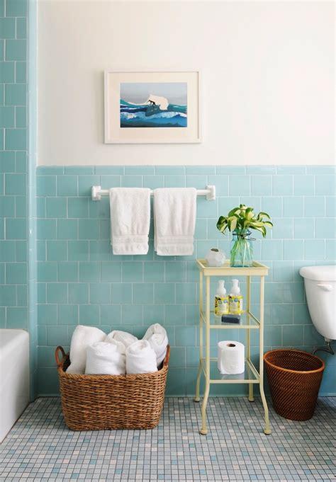 bathroom design magazines rue magazine pretty bathroom with aqua blue tiled half