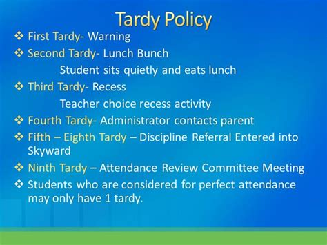 attendance  tardy policies