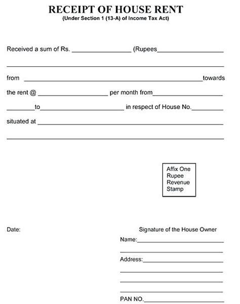 room rent receipt format pdf yagoa me