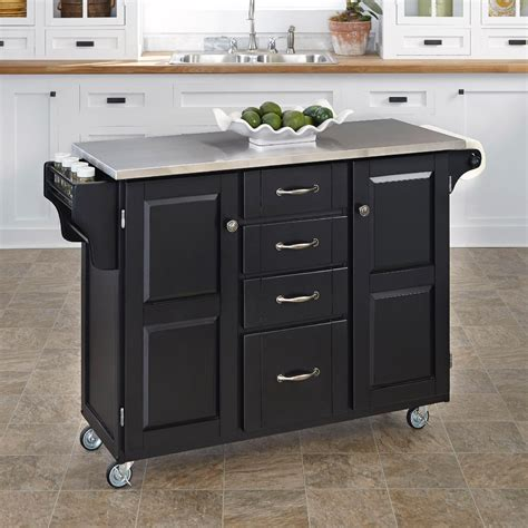 how to make a kitchen island cart home styles create a cart large cart black finish with 9479