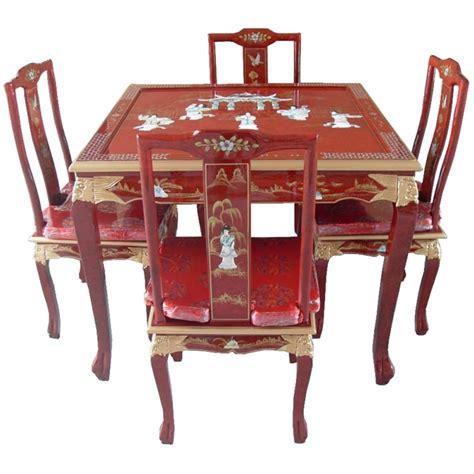 table a manger avec chaise table de salle 224 manger laqu 233 e chinoise