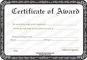 Best Performance Award Certificate Template