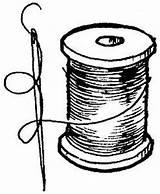 Thread Drawing Needle Spool Sketch Coloring Template Pngio Februari sketch template