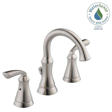 delta widespread bathroom faucet delta mandara 8 in widespread 2 handle bathroom faucet in