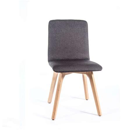 siege scandinave chaise de salle à manger moderne en tissu et bois plaza