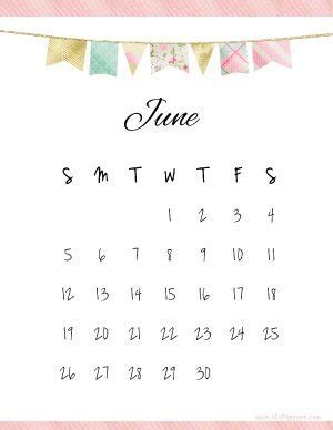 printable june  calendar customize
