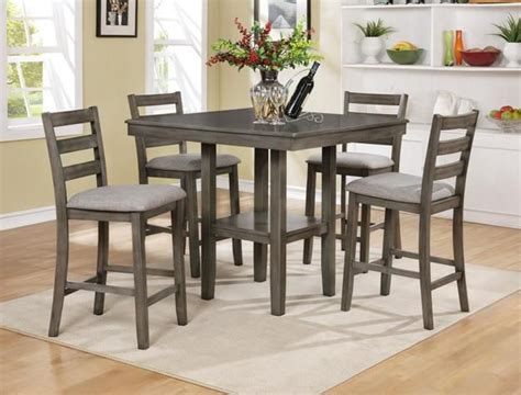 driftwood kitchen table set tahoe driftwood grey 5pc counter height dinette set 429
