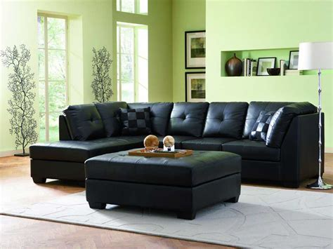 chaises discount 3 black contemporary leather sofa set with discount price
