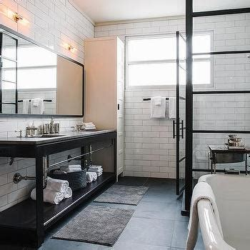 Modern Bathroom Mirrors South Africa by Gold And Black Mosaic Floor Tiles Transitional Bathroom