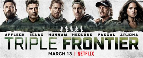 triple frontier  character posters teaser trailer