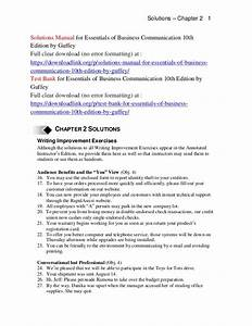 Solutions Manual For Essentials Of Business Communication
