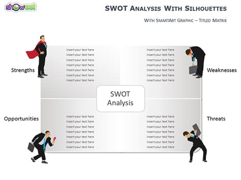 analyse swot avec silhouettes pour powerpoint