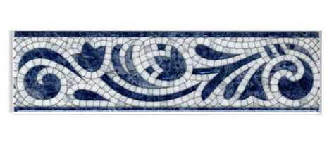 ceramic tile border with blue and white colors ideas