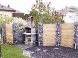 Terrassen Sichtschutz Aus Holz : kreative ideen mit garten sichtschutz stein mit einer kombination aus holz f r ihren vorgarten ~ Sanjose-hotels-ca.com Haus und Dekorationen