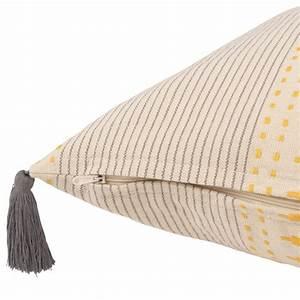 Housse De Coussin 40x40 Maison Du Monde : housse de coussin en coton pompons 40x40 sun maisons du monde ~ Melissatoandfro.com Idées de Décoration