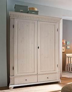 Massivholz Kleiderschrank Weiß : massivholz kleiderschrank 2t rig h he 200cm wei kiefer massiv dielen schrank ebay ~ A.2002-acura-tl-radio.info Haus und Dekorationen