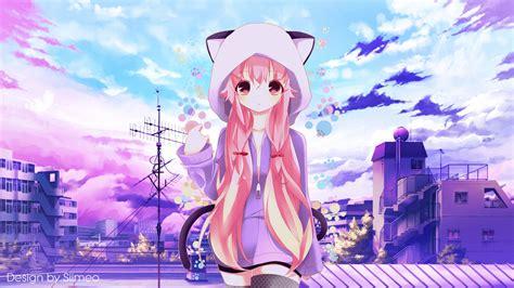 Deviantart Anime Wallpaper - a simple purple day anime wallpaper by siimeo on deviantart