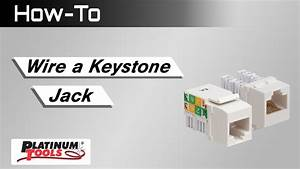 How To  Wire A Keystone Jack